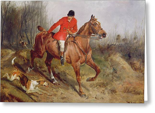 Grb Greeting Cards -  Hunting Scene Greeting Card by John Alfred  Wheeler