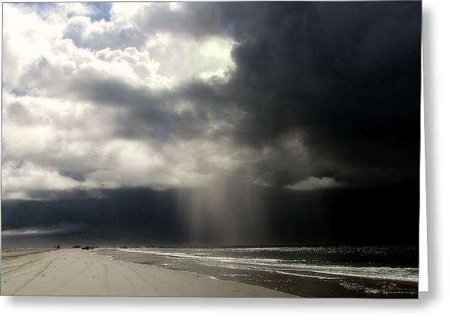 Hurricane Glimpse Greeting Card by KAREN WILES
