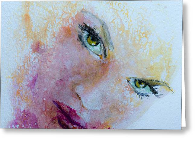 Body Mixed Media Greeting Cards -  I Only Have Eyes For You  Greeting Card by Dorina  Costras