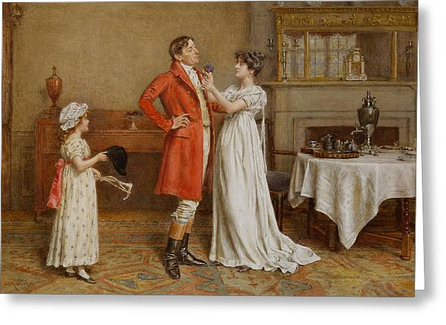 Wishes Greeting Cards -  I Wish you Luck Greeting Card by George Goodwin Kilburne
