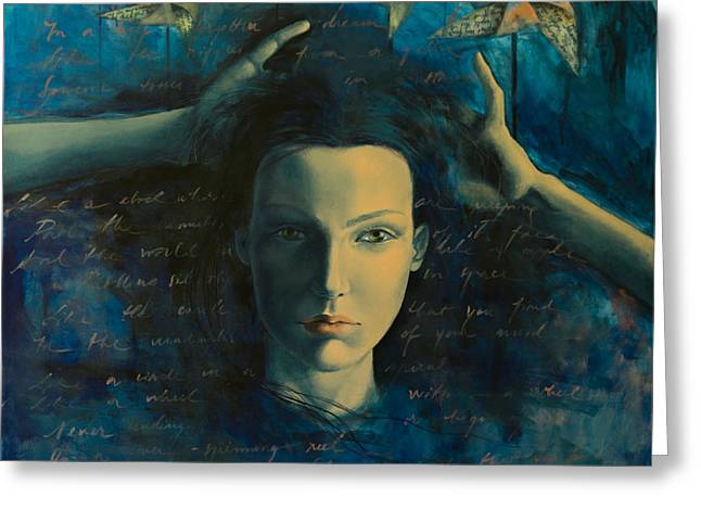 Love Letter Greeting Cards -  In a Half Forgotten Dream Greeting Card by Dorina  Costras