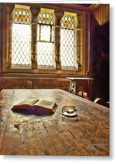 Replacing Greeting Cards -  In The Vestry Greeting Card by Dave Godden