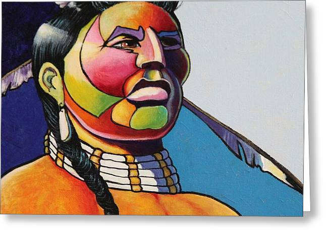 Vivid Color Palette Greeting Cards -  Indian Portrait Greeting Card by Joe  Triano