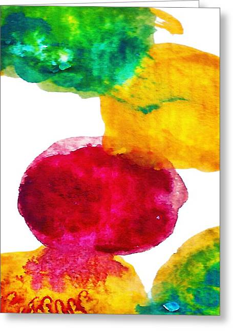 Abstract Landscape Greeting Cards -  Interactions 1 Greeting Card by Amy Vangsgard