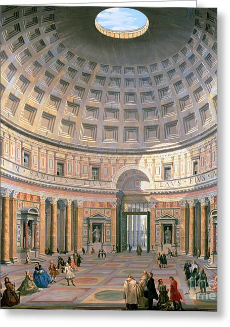 Domes Greeting Cards -  Interior of the Pantheon Greeting Card by Panini