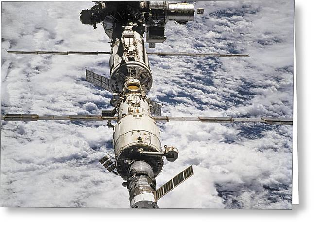 Advancing Greeting Cards -  International Space Station Greeting Card by Anonymous