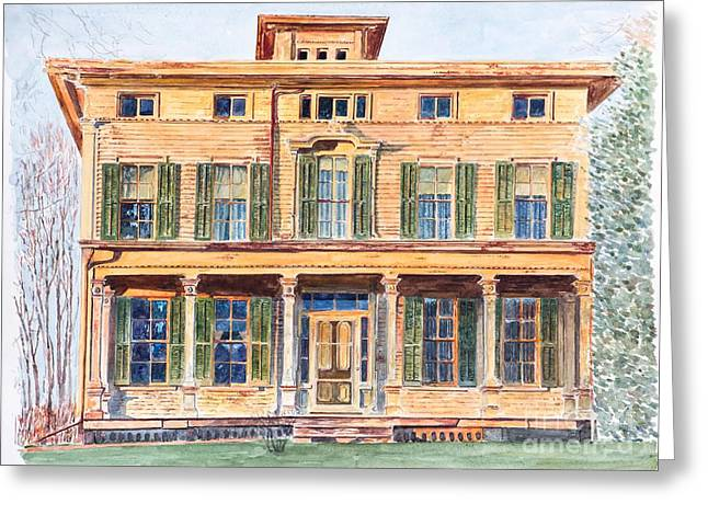 Fine Artworks Greeting Cards -  Italianate House NY Greeting Card by Anthony Butera