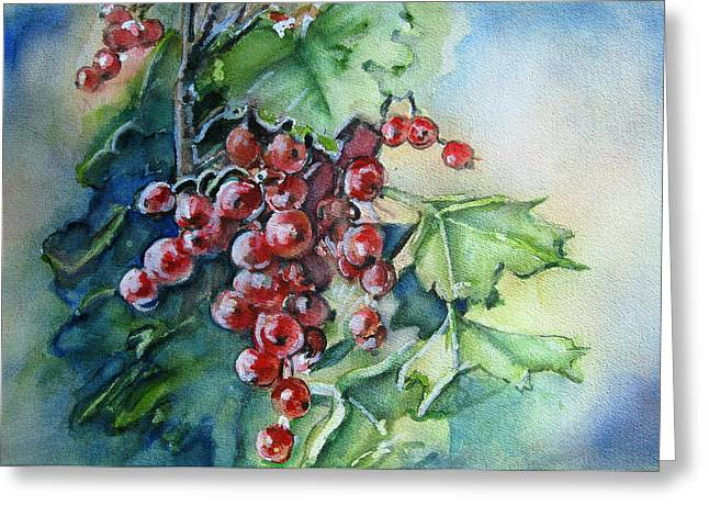 Berry Greeting Cards -  Its The Berries Greeting Card by June Conte Pryor