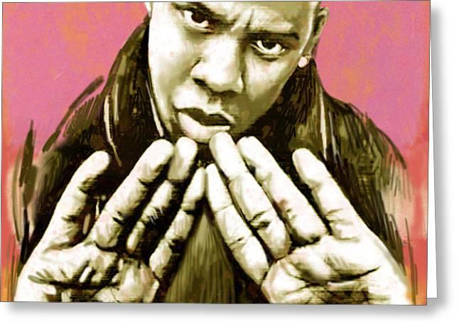 Jay-Z art sketch poster Greeting Card by Kim Wang