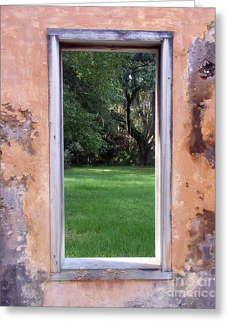 Jeckyll Island Window Greeting Card by Tom Romeo