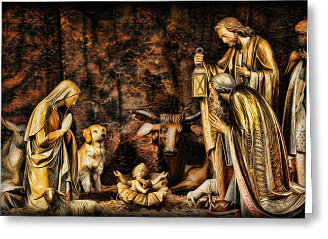 Kwanzaa Greeting Cards -  Jesus had a Labrador Greeting Card by Lee Dos Santos