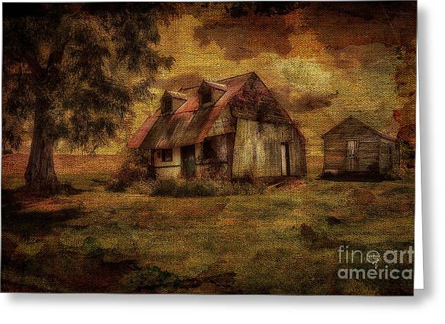 Dilapidated Houses Greeting Cards -  Just Biding Time Greeting Card by Lois Bryan