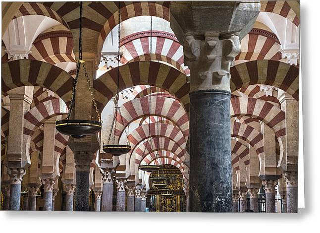 Muslem Greeting Cards -  La Mezquita Cordoba Greeting Card by Peter Eastland
