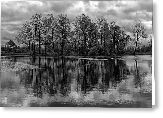 Peaceful Scenery Greeting Cards -  Lake 6 Greeting Card by Ingrid Smith-Johnsen