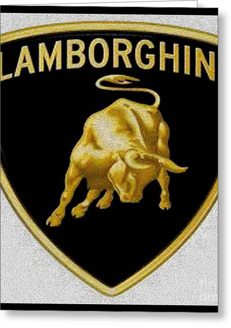 Art Collectors Greeting Cards -  Lamborghini Greeting Card by Cheryl Young