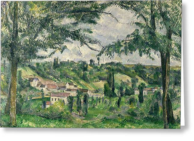 Paul Cezanne Greeting Cards -  Landscape  Greeting Card by Paul Cezanne