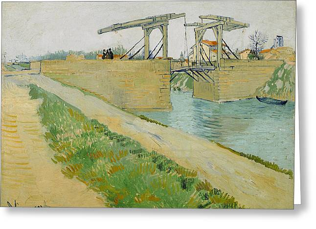 Langlois Greeting Cards -  Langlois Bridge  Greeting Card by Vincent van Gogh