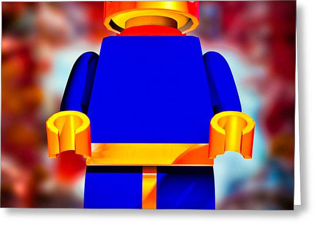 Lego Spaceman Greeting Card by Bob Orsillo