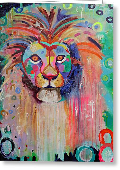 Print Greeting Cards -  Leo Greeting Card by Alisa Steady