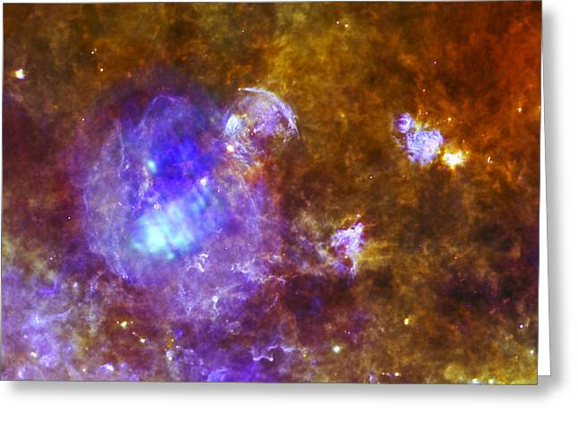 Abstract Constellations Greeting Cards -  Life and Death in a Star-Forming Cloud Greeting Card by Adam Romanowicz