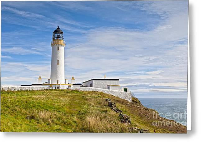 Lighthouse At Mull Of Galloway Scotland Greeting Card by Colin and Linda McKie