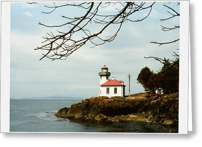 Prints From San Juan Greeting Cards -  Lime Kiln Light Station Greeting Card by Jack Pumphrey