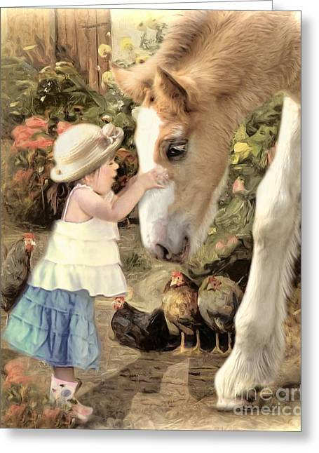 Gypsy Cob Greeting Cards -  Little Moments Greeting Card by Trudi Simmonds