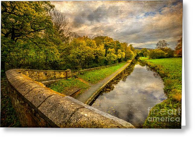 Border Digital Greeting Cards -  Llangollen Canal Greeting Card by Adrian Evans