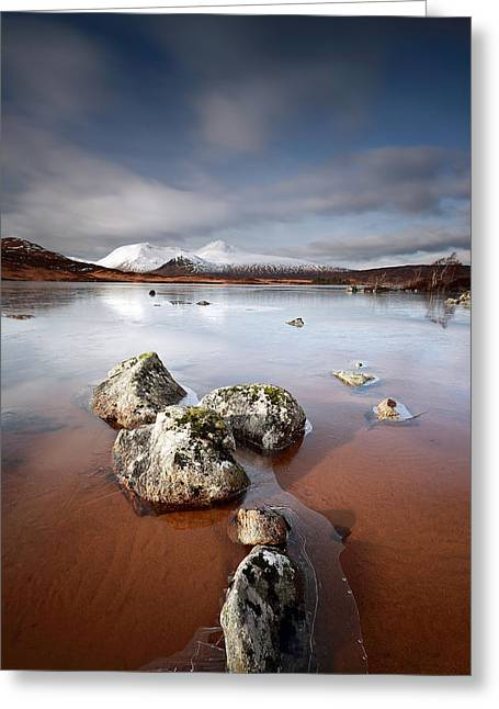 Lochan Greeting Cards -  Lochan na h-Achlaise Greeting Card by Grant Glendinning