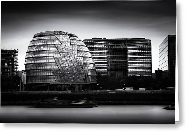 City Hall Photographs Greeting Cards -  London City Hall  Skyline Greeting Card by Ian Hufton