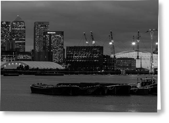 London Docklands Greeting Card by Dawn OConnor