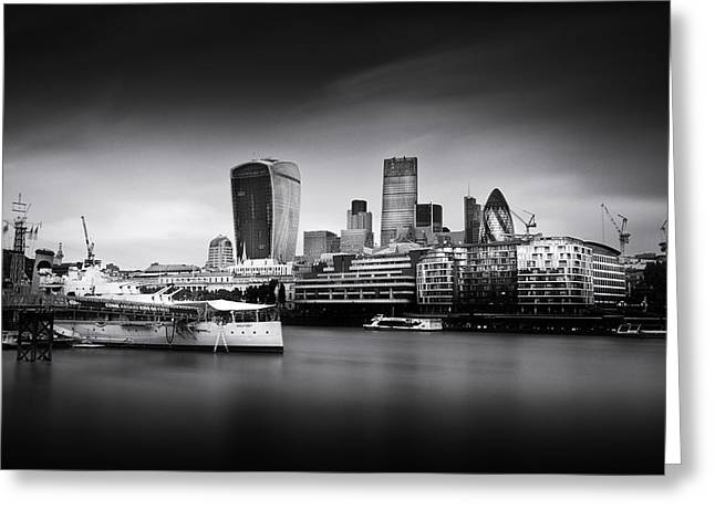 Belfast Greeting Cards -  London Skyline  Cityscape Greeting Card by Ian Hufton