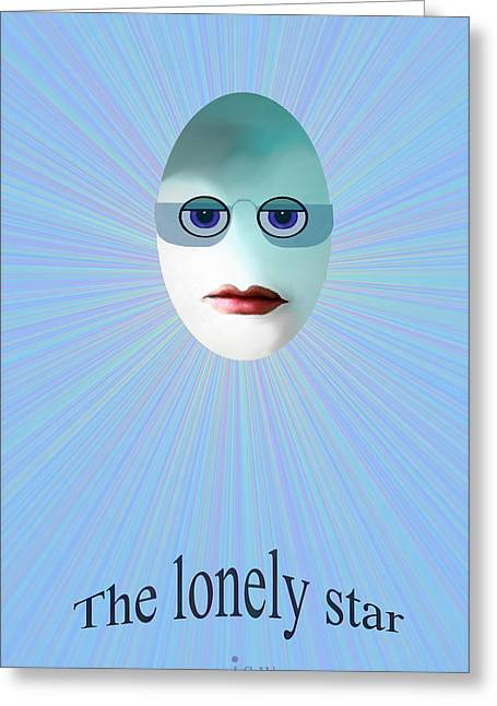 Eggheads Greeting Cards -   Lonely star - 963 Greeting Card by Irmgard Schoendorf Welch