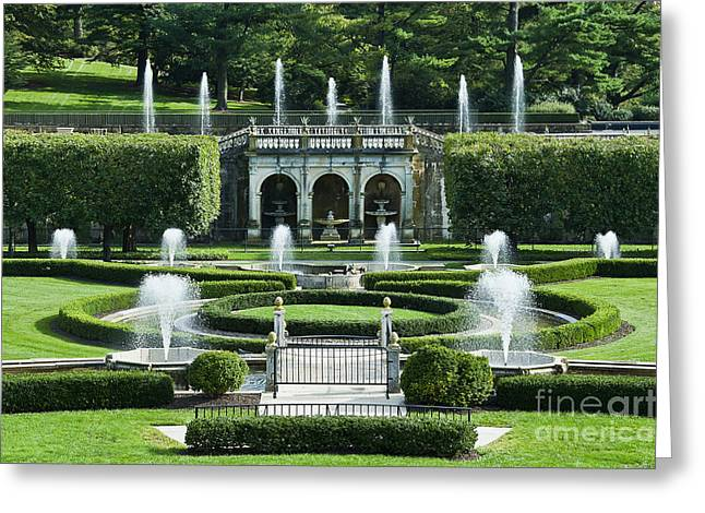 Longwood Gardens Fountains Greeting Card by John Greim
