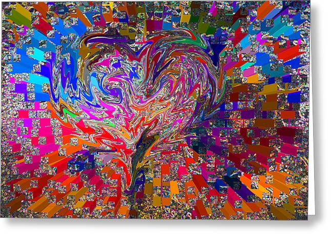 Gestures Mixed Media Greeting Cards -  Love Chameleon Greeting Card by Kenneth James