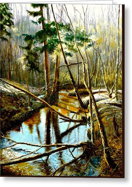 Lubianka-1- River Greeting Card by Henryk Gorecki
