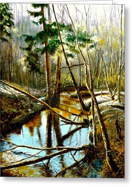 Gorecki Greeting Cards -  Lubianka-1- River Greeting Card by Henryk Gorecki