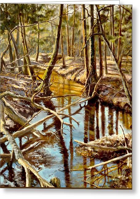 Lubianka-3-river Greeting Card by Henryk Gorecki