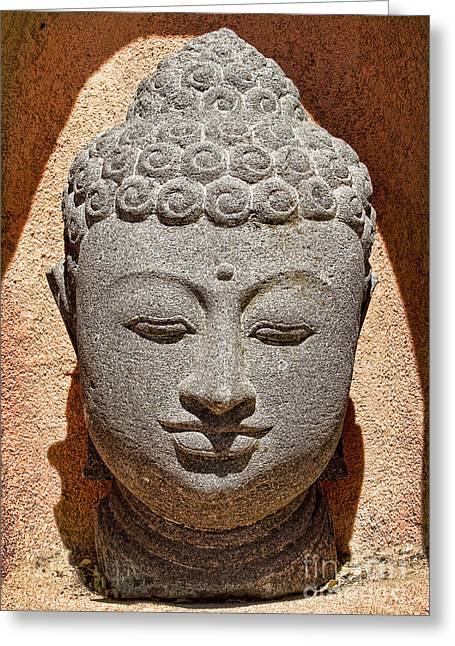 Many Faces Of Buddha Greeting Card by Elena Nosyreva