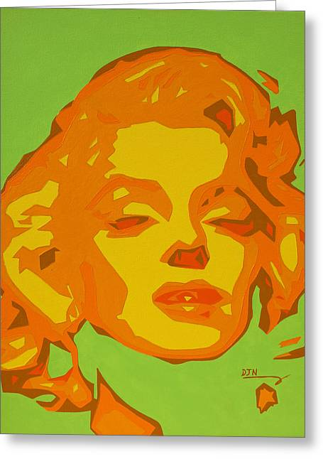 Bubbly Paintings Greeting Cards -  Marilyn Monroe  Greeting Card by Dennis Nadeau