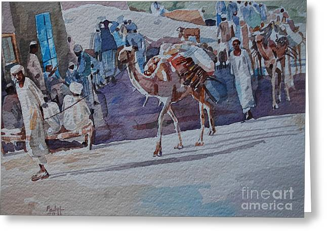 Mohamed Fadul Greeting Cards -  Market Greeting Card by Mohamed Fadul