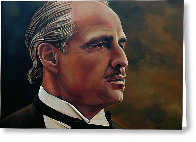 Golden Globe Greeting Cards -  Marlon Brando Greeting Card by Paul Meijering