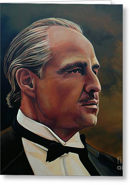 Marlon Brando Greeting Card by Paul Meijering