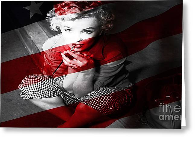 Monroe Greeting Cards -  Marylin Monroe Greeting Card by Marvin Blaine