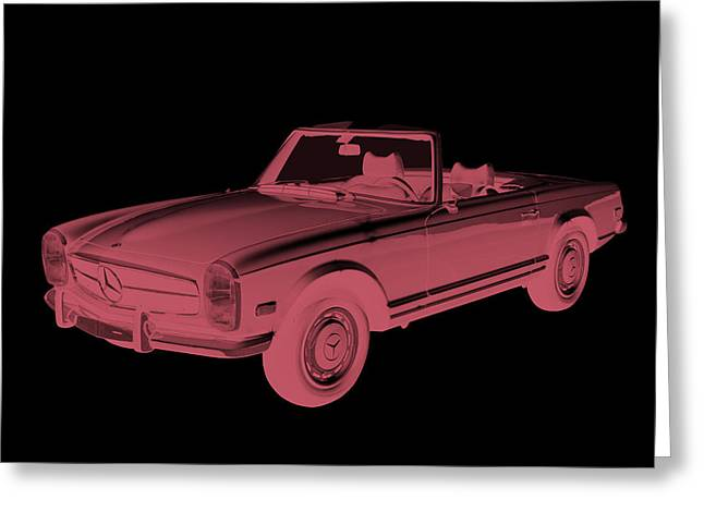 Sporty Greeting Cards -  Mercedes Benz 280 SL Convertible Modern Art Greeting Card by Keith Webber Jr