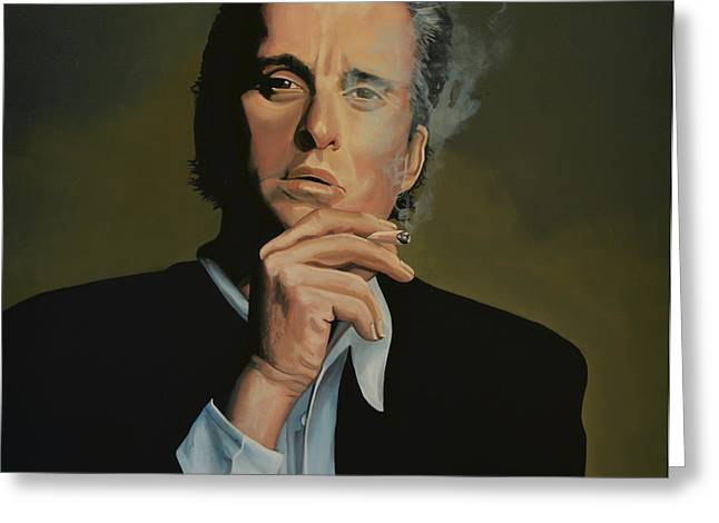 Academy Awards Greeting Cards -  Michael Douglas Greeting Card by Paul  Meijering