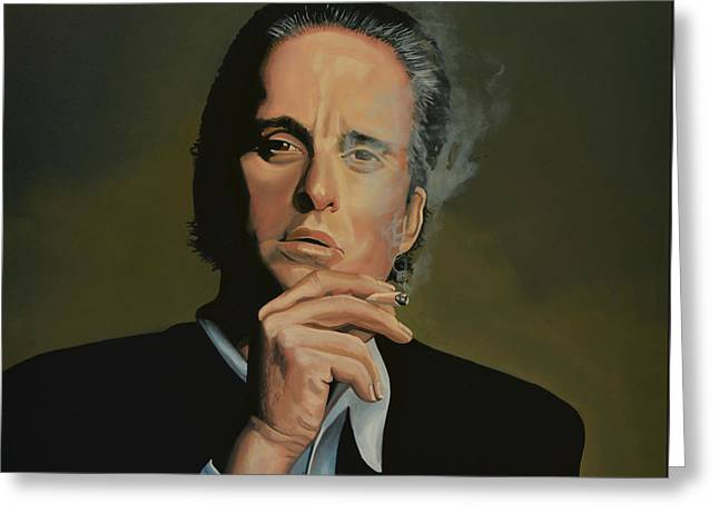 Douglas Greeting Cards -  Michael Douglas Greeting Card by Paul  Meijering