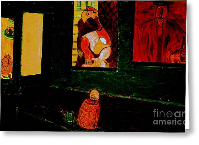 Modigliani Pastels Greeting Cards -  Midnight with Vincent Greeting Card by Bill OConnor