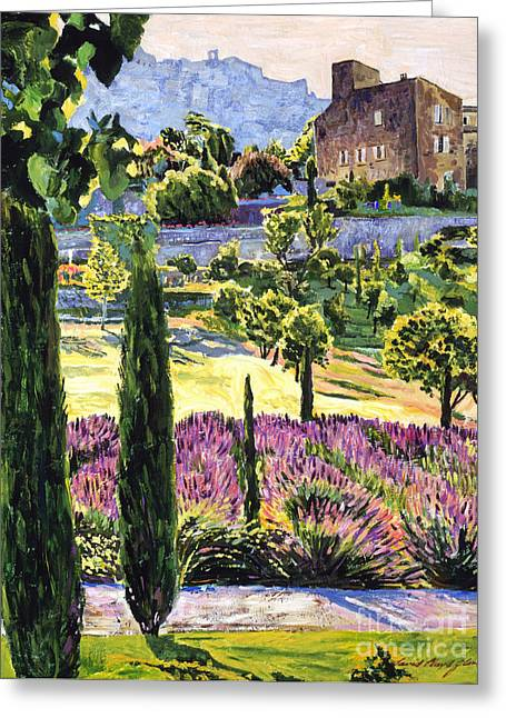Stone Building Greeting Cards -  Midsummers Eve In Provence Greeting Card by David Lloyd Glover