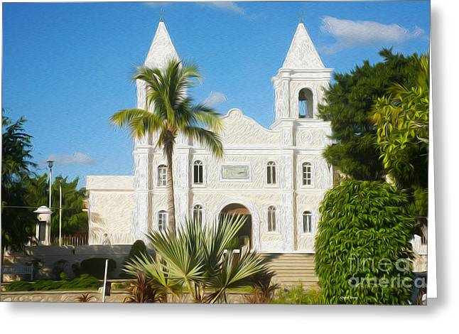 Small Towns Greeting Cards -  Mission of San Jose del Cabo Anuit  Greeting Card by Cheryl Young